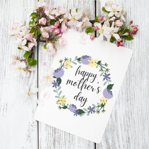 Floral Crown Mother's Day Card