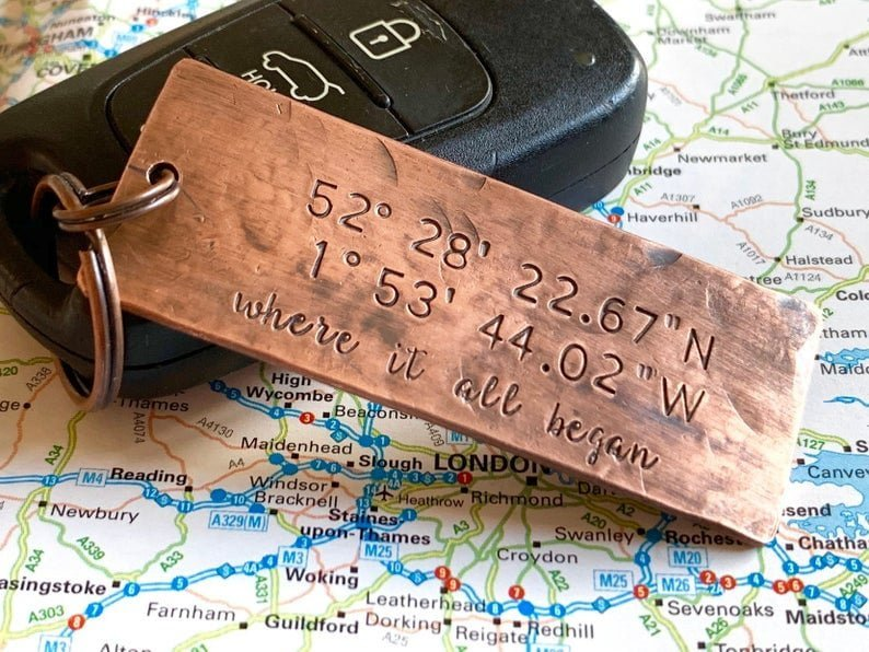 Keychain - Copper gifts for men